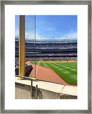 Yankee Stadium_right Field3 Framed Print by All Island Promos