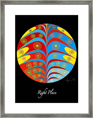 Right Place Framed Print