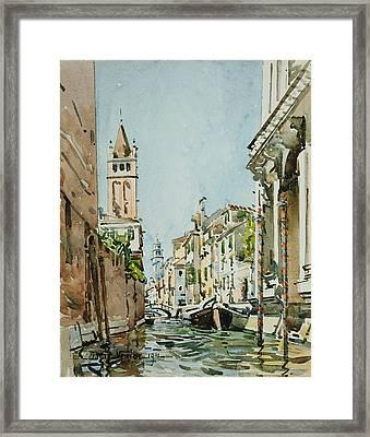 Rio Di San Barnaba, Venice Framed Print
