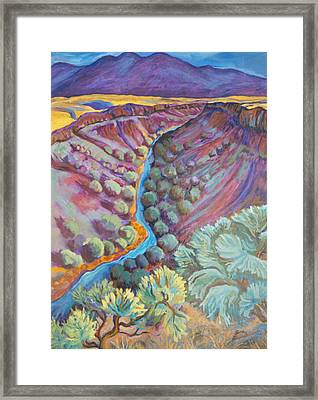 Rio Grande In September Framed Print by Gina Grundemann