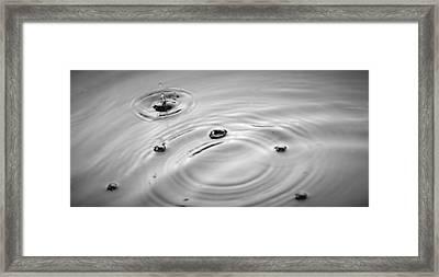 Ripple Effect Framed Print by John Glass