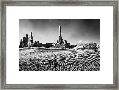 Rippled Dunes Framed Print