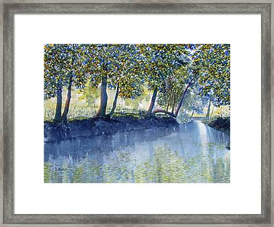 Ripples And Reflections Framed Print