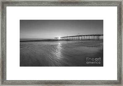 Rise And Shine At Nags Head Pier Framed Print by Michael Ver Sprill