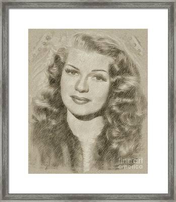 Rita Hayworth Vintage Hollywood Actress Framed Print
