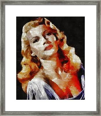 Rita Hayworth Vintage Hollywood Actress Framed Print by Mary Bassett