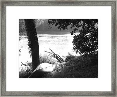 River Bank Framed Print by Michael L Kimble
