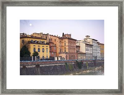 River In Florence Framed Print by Andre Goncalves