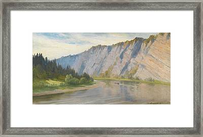 River Landscape Framed Print by Alexei Kuzmich