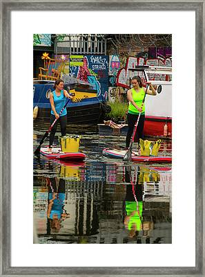 River Lea At Hackney Wick Framed Print by David French