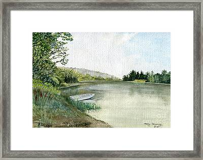 Framed Print featuring the painting River Light by Melly Terpening