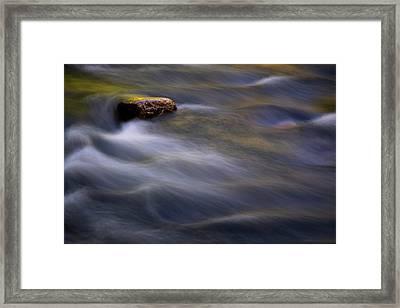 River Rock Framed Print by Tom Singleton