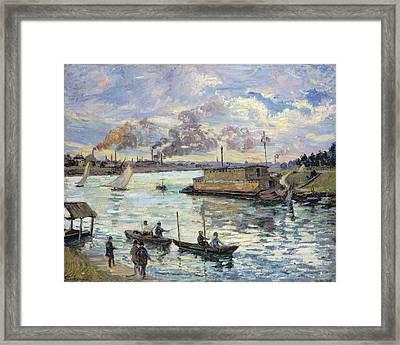 River Scene Framed Print