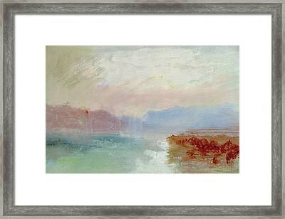 River Scene Framed Print by Joseph Mallord William Turner