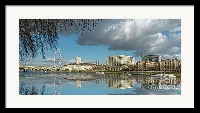 London Eye River Cruise Framed Prints