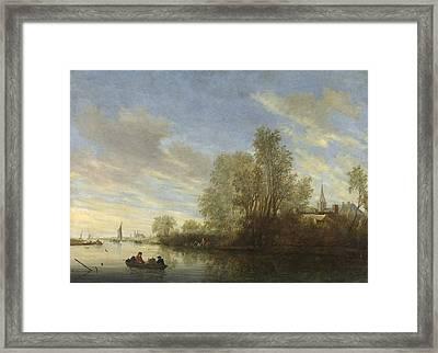 River View In Deventer Framed Print
