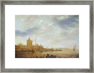 River View With Guard Framed Print