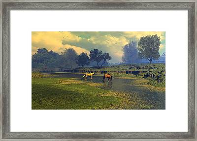 River Waltz Framed Print by Dieter Carlton