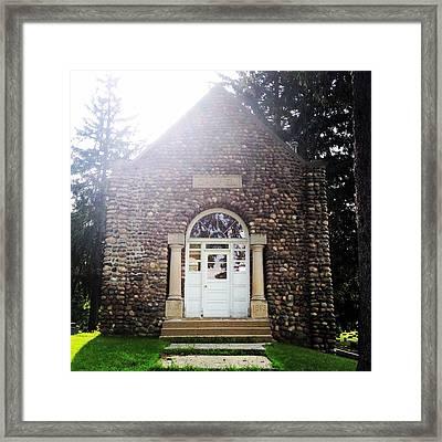 Riverside Cemetery Chapel Framed Print
