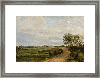 Road Across The Hills. Study Framed Print