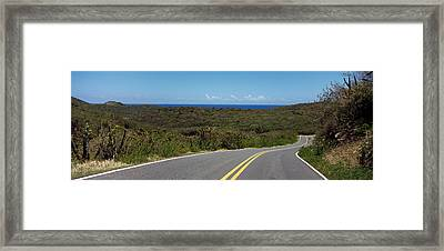 Road Passing Through A Landscape, U.s Framed Print