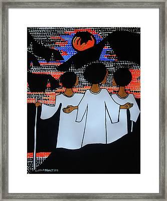 Road To Emmaus Framed Print by Gloria Ssali