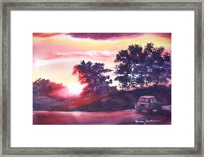 Road To Fargo Framed Print by Marilyn Jacobson