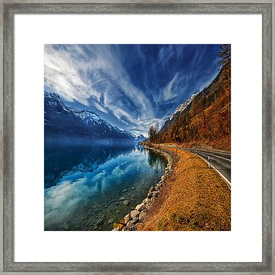 Road To No Regret Framed Print by Philippe Sainte-Laudy
