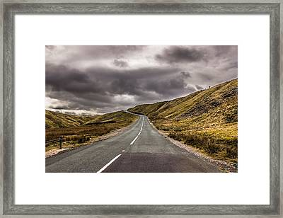 Road To Nowhere Framed Print by David Warrington