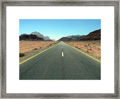 Road To Wadi Framed Print by James Lukashenko