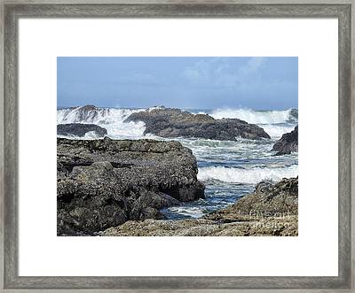 Framed Print featuring the photograph Roads End by Peggy Hughes