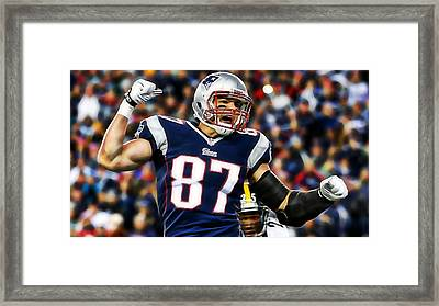 Rob Gronkowski Collection Framed Print