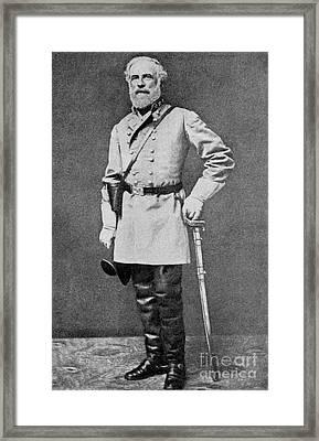 Robert E Lee Framed Print by American School