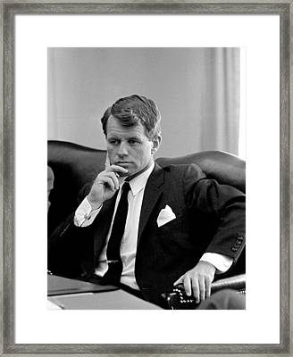 Robert Kennedy  Framed Print by War Is Hell Store