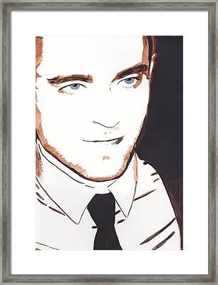 Robert Pattinson 11 Framed Print