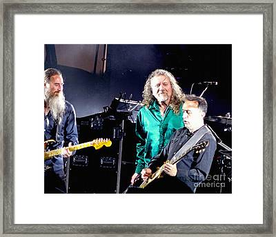Robert Plant And The Sensational Space Shifters.1 Framed Print by Tanya Filichkin