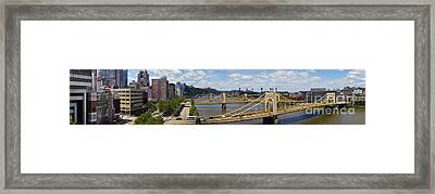 Roberto Clemente Bridge And Pnc Park Pittsburgh Pennsylvania Framed Print by Amy Cicconi