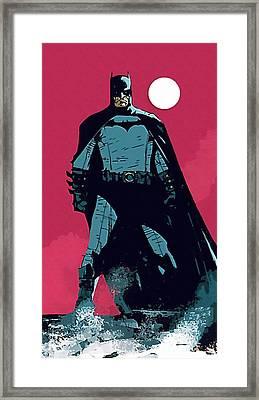 Robin And Batman Framed Print