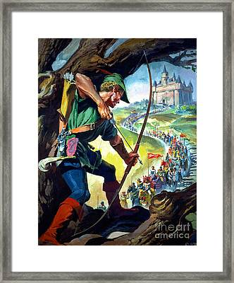 Robin Hood Framed Print by James Edwin McConnell