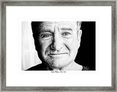 Robin Williams Framed Print by Andrew Read