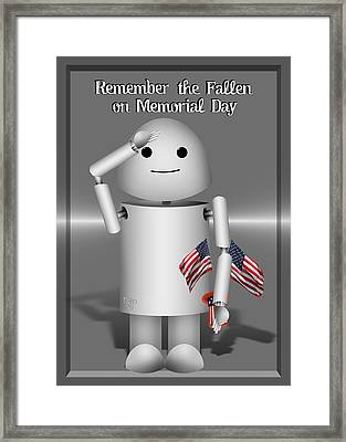 Robo-x9 Remembers Framed Print by Gravityx9   Designs