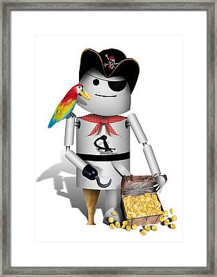 Robo-x9 The Pirate Framed Print