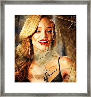 Robyn Rihanna Fenty - Rihanna Framed Print by Sir Josef - Social Critic -  Maha Art