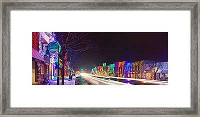 Rochester Christmas Light Display Framed Print