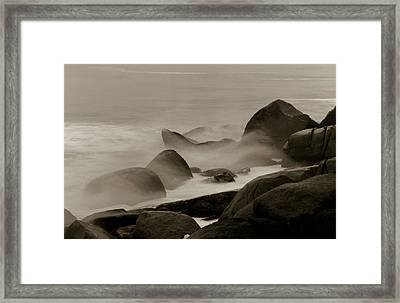 Rock And Sea Framed Print