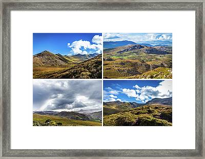 Framed Print featuring the photograph Postcard Of Rock Formation Landscape With Clouds And Sun Rays In Ireland by Semmick Photo