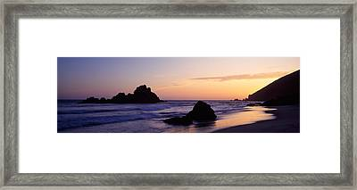 Rock Formations On The Beach, Pfeiffer Framed Print by Panoramic Images