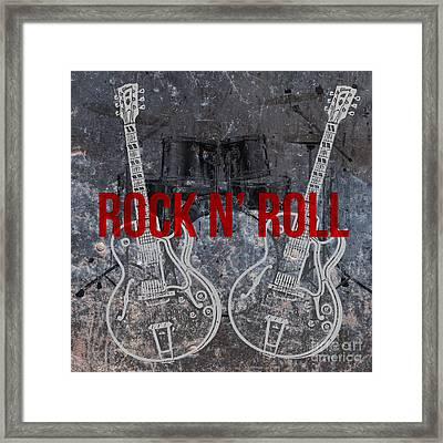 Rock N Roll Framed Print by Edward Fielding