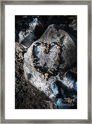 Rock Solid Love Framed Print