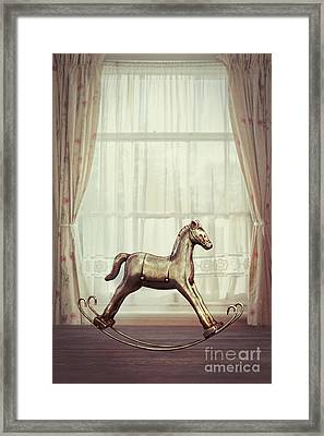 Rocking Horse Framed Print by Amanda Elwell